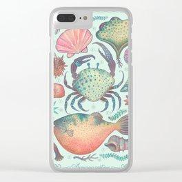 Marine Creatures II Clear iPhone Case