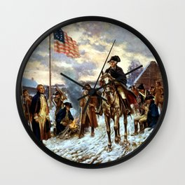 Washington At Valley Forge Wall Clock