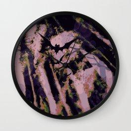 bat spore forest Wall Clock