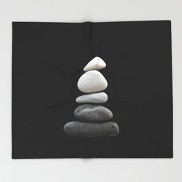 balance pebble art Throw Blanket