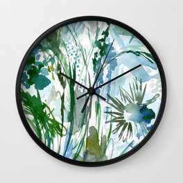 marelle: watercolor floral Wall Clock
