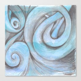 swirl (light blue) Canvas Print