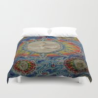 third eye Duvet Covers featuring The Third Eye by Nicholas Bremner - Autotelic Art