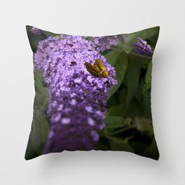 Buddleia Throw Pillow