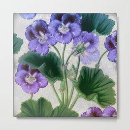 Purple Pansies Metal Print