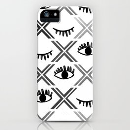 Original Black and White Eyes Design iPhone Case