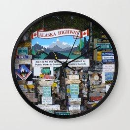 Watson Lake, YT, Canada Wall Clock