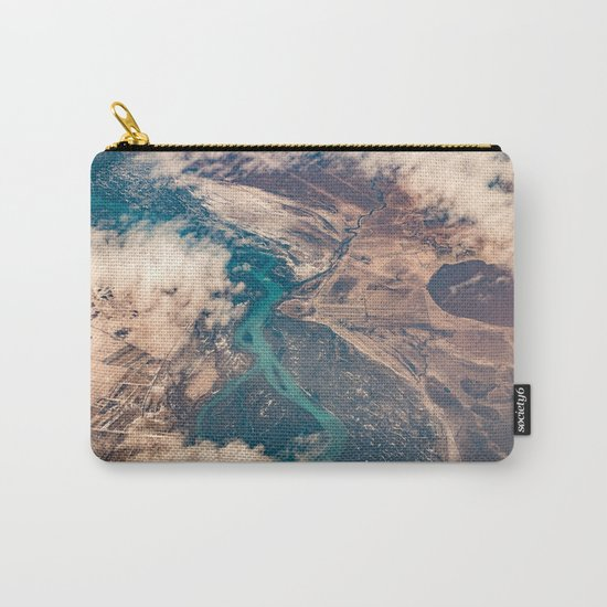 View of the World from Above (Earth Map) Carry-All Pouch