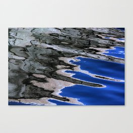 grey abstract water reflection Canvas Print