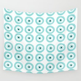 Baby Blue Evil Eye Wall Tapestry