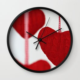 christmas decoration and valentine heart shape Wall Clock