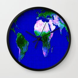 World Map : Gall Peters Wall Clock