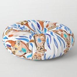 Five Otters – Blue Palette Floor Pillow