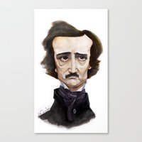 poe Canvas Prints featuring Poe by Vito Quintans