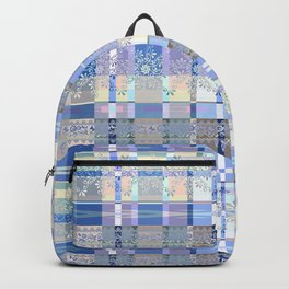 Abstract pattern with lace decorative bands. Backpack