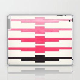 Ancient Aztec Inca Geometric Pattern Watercolor Pink Colorful Gouache Painting Laptop & iPad Skin