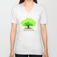 Oak Tree Flag Unisex V-Neck