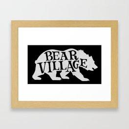 Bear Village - Polar Framed Art Print