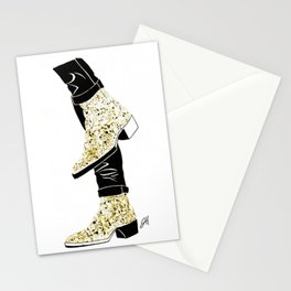 Gold Boots Stationery Cards