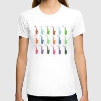 saxophone T-shirts featuring Saxophone by Fabian Bross