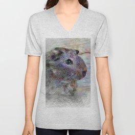 Artistic Animal Guinea Pig 1 Unisex V-Neck