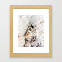 Duchess Watercolor Cat Framed Art Print