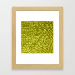 Yellow Bubble Row Textile Photo Art Framed Art Print