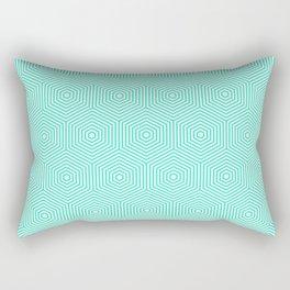 Turquoise seamless graphic hexagon pattern Rectangular Pillow