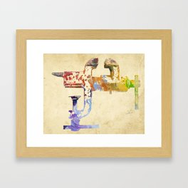 Industrial Clamp Framed Art Print