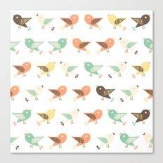Assorted birds pattern Canvas Print