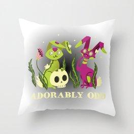 Adorably Odd Throw Pillow