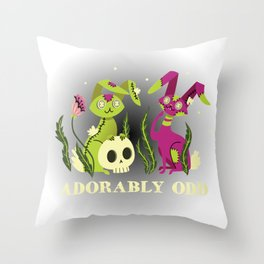 Adorably Odd Throw Pillow