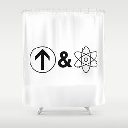 Up&Atom. Shower Curtain
