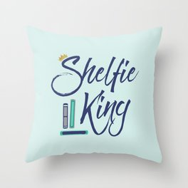 Booklover Shelfie King Throw Pillow