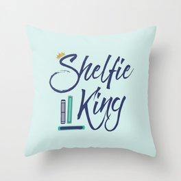 Booklover Shelfie King Throw Pillow