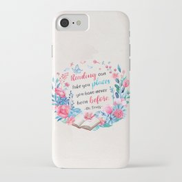 Reading can take you places iPhone Case