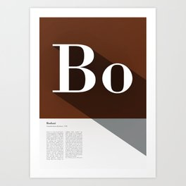 The Typographic Alphabet: Bodoni (2/26) Art Print