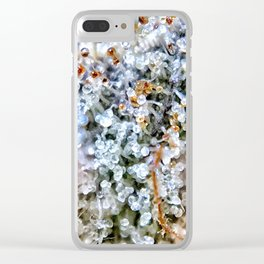 Diamond OG Top Shelf Trichomes Close Up View Clear iPhone Case