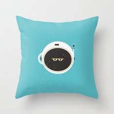 The Spaceman on Earth Throw Pillow