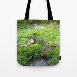 Peaceful Ducks Tote Bag