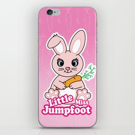 Little Miss Jumpfoot iPhone Skin