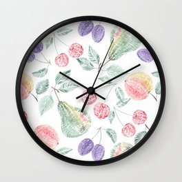 Fruity delight. Wall Clock