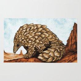 The Golden Pangolin Rug