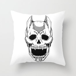 Killer Queen Skull (JoJo's Bizarre Adventure) Throw Pillow
