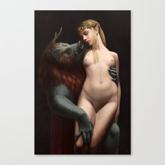 The Beast and The Princess -- Nude Canvas Print