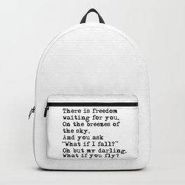 What if you fly? Vintage typewritten Backpack