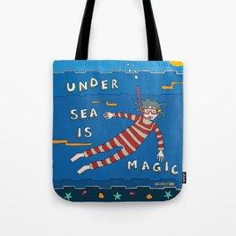 Snorkeling Boy Tote Bag
