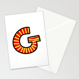 Uppercase Letter G Doodle Stationery Cards