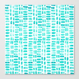 Abstract rectangles - turquoise Canvas Print