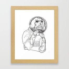 Stay Safe Space Monkey! Framed Art Print